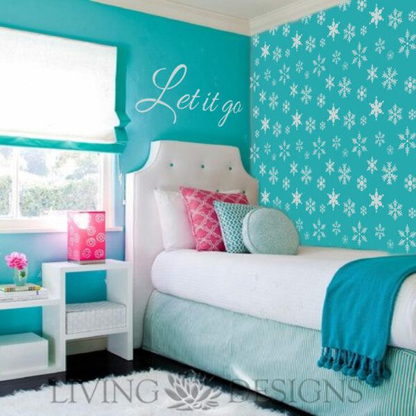 Plantilla decorativa frozen plantillas decorativas - Plantillas de letras para pintar paredes ...