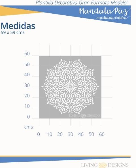 Mandala paz mediana entera info G (Pequeño)-min