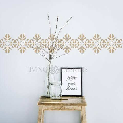 Plantilla decorativa cenefa para pintar y decorar paredes - Plantillas de letras para pintar paredes ...