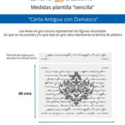 Medidas Carta Antigua con Damasco (Small)